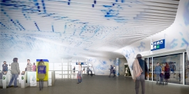 Station hall rendering