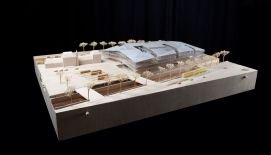 Model of the new train station of Delft
