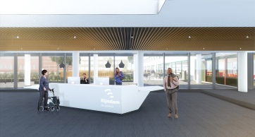 Interior reception desk