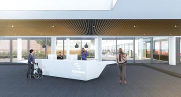Interior reception desk