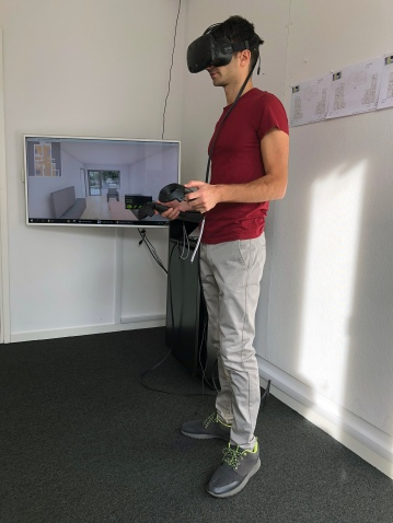 Testing interior apartments in VR at White
